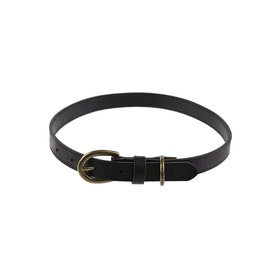 Country Attire Harris 2cm Large Leather Dog Collar - Black