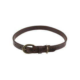 Country Attire Harris 2cm Large Leather Dog Collar - Brown
