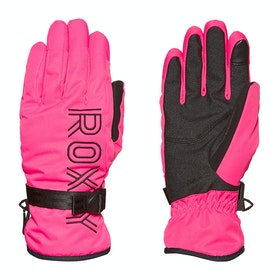 Roxy Freshfield Womens Snow Gloves - Beetroot Pink