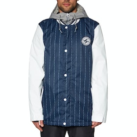 DC DCLA Snow Jacket - Dress Blues Logo Pin Stripe