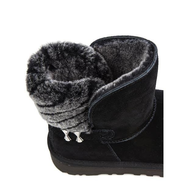 UGG Adria Stripe Fur Detail Ankle Dames Laarzen
