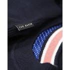 T-Shirt à Manche Longue Ted Baker Textured Sleeve Crew Neck