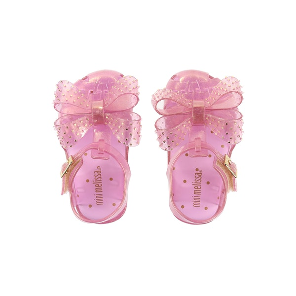 Melissa Mini Aranha Disco Bow Girl's Sandals