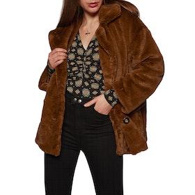 Free People Sold Kate Faux Fur Women's Jacket - Terracotta