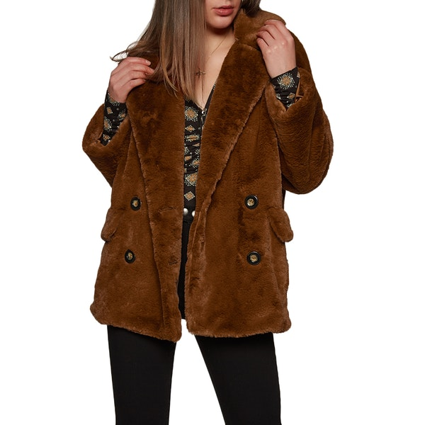 Free People Sold Kate Faux Fur Dame Modejakke