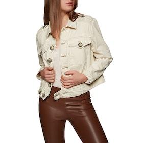 Free People Denim Slouchy Eisenhower Women's Jacket - Ivory