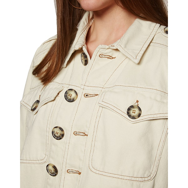 Free People Denim Slouchy Eisenhower Women's Jacket