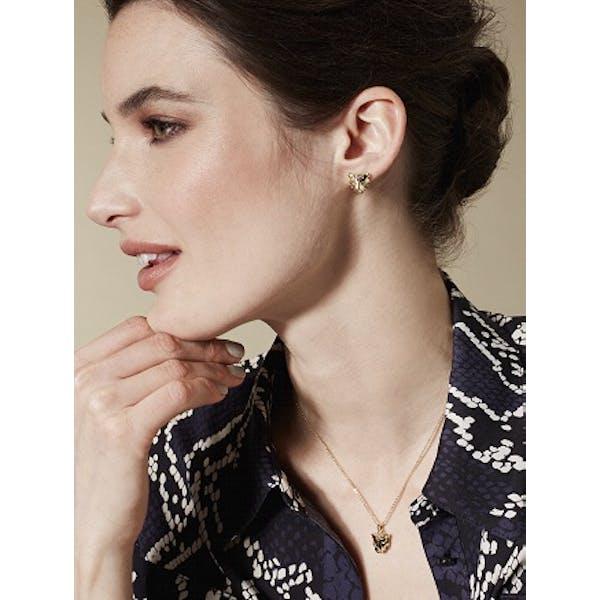 Karen Millen Leopard Stud Earrings