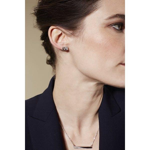 Karen Millen Crystal Bar Pendant Necklace