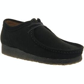 Clarks Originals Wallabee Dress Shoes - Black Suede