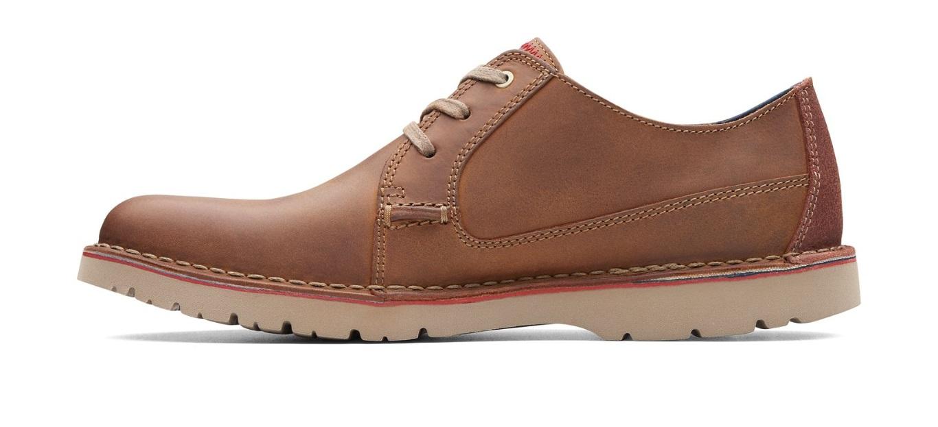 Clarks Vargo Plain Shoes Dark Tan Leather   Country Attire UK