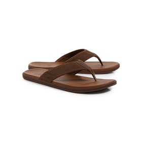 UGG Seaside Flip Leather Sandalen - Luggage