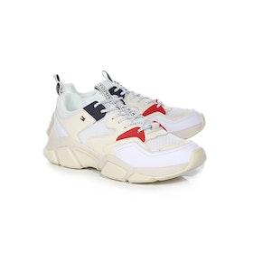 Tommy Hilfiger Chunky Mixed Textile Damen Schuhe - White