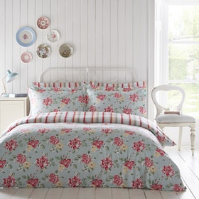 Cath Kidston Double Duvet Cover Set Bedding - Box Floral