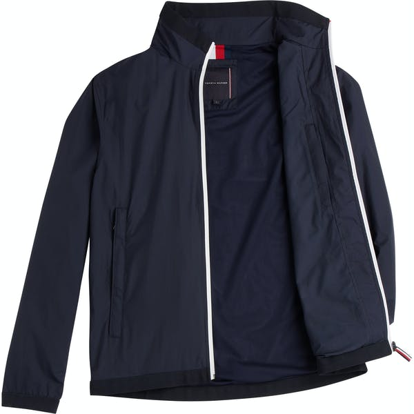Tommy Hilfiger Red White Zip Herre Modejakke
