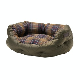 Barbour Quilted 24 Dog Bed - Olive