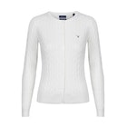Gant Stretch Cotton Cable Crew Women's Cardigan