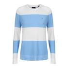 Gant Cotton Pique Block Stripe Crew Women's Sweater