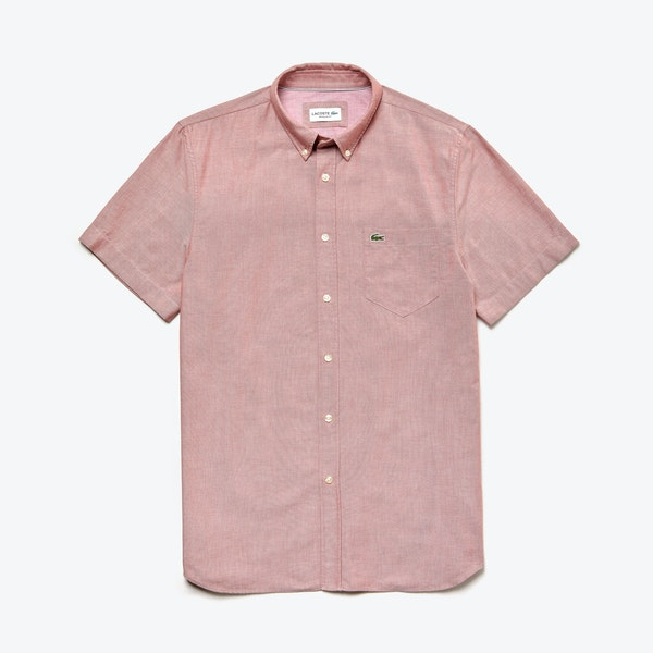 Lacoste Oxford Cotton 半袖シャツ