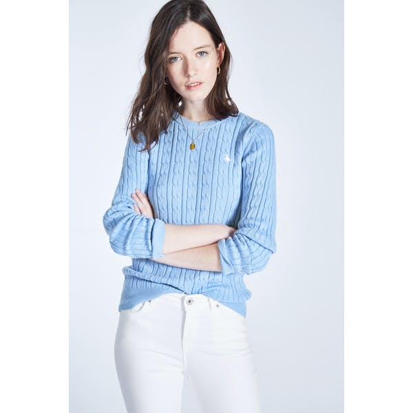 Jack Wills Tinsbury Classic Cable Crew Dames Breigoed