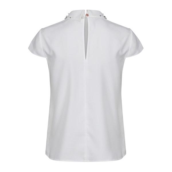 Ted Baker Jaylen Embellished Collar Cap Sleeve Women's Top