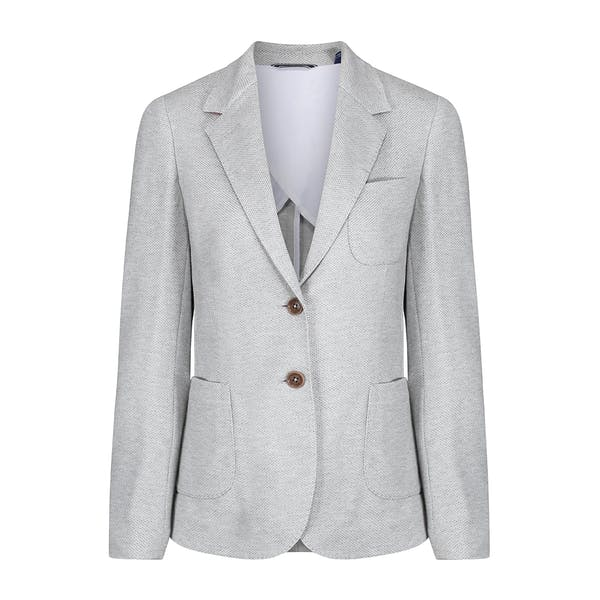 reputable site 34148 453c9 Blazer Donna Gant Jersey Pique - Grey Melange | Country Attire