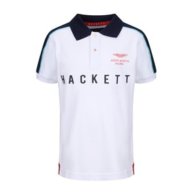 Hackett Aston Martin Racing Boy's Polo Shirt - White