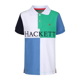 Hackett Quad Boy's Polo Shirt - Green Navy