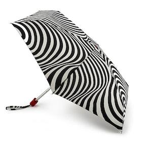 Lulu Guinness Tiny Damen Regenschirm - Optical Stripe