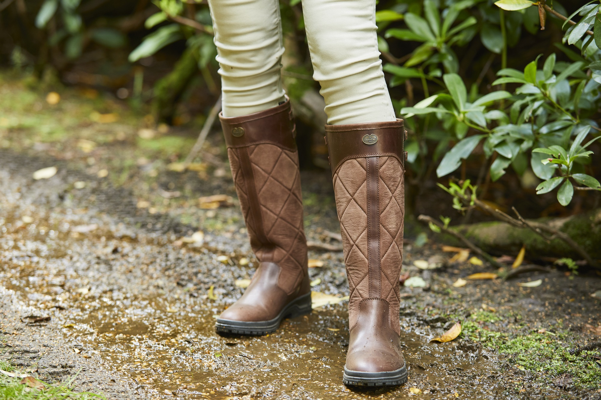 Le Chameau Jameson Quilted Wellington Boots