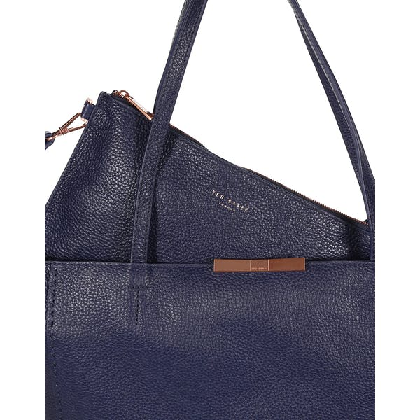 Ted Baker Clarkia Soft Grain Faceted Bar Shopper Bag