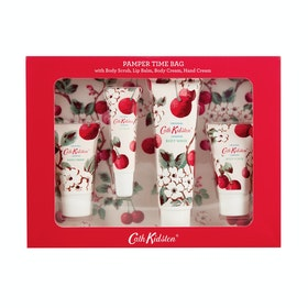 Cath Kidston Pamper Time Bag Womens Grooming Gift Set - Cherry Sprig