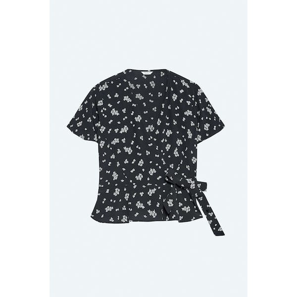 Jack Wills Susie Floral Wrap Dames Top
