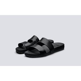 Grenson Channing Sliders - Black Calf