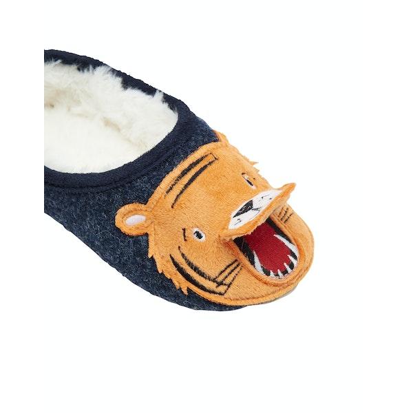 Joules Slippet Felt Mule Character Boy's Slippers