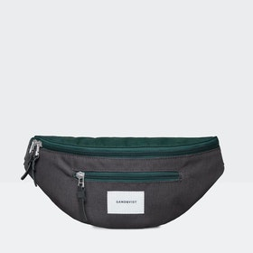 Sandqvist Aste Gürteltasche - Deep Green Dark Grey Black Leather