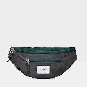 Marsupio Sandqvist Aste - Deep Green Dark Grey Black Leather