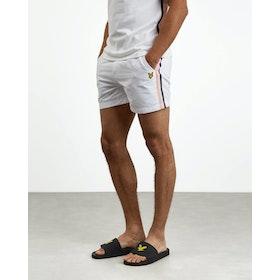 Lyle & Scott Side Stripe Short Shorts - White
