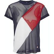 T-Shirt à Manche Courte Femme Tommy Hilfiger Club Flag Mesh