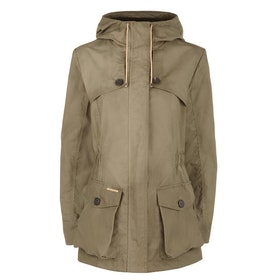 Troy London Wax Parka Women's Jacket - Khaki Green
