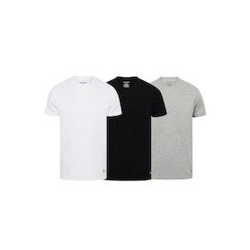 Lyle & Scott 3 Pack Maxwell Loungewear Tops - Bright White Grey Marl Black