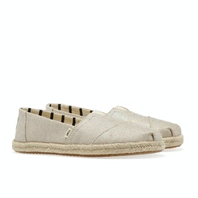Espadrillas Toms Heritage Canvas Alpargata - Natural Pearlized Metalic Woven