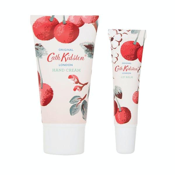 Grooming Gift Set Cath Kidston Hand Cream and Lip Tin