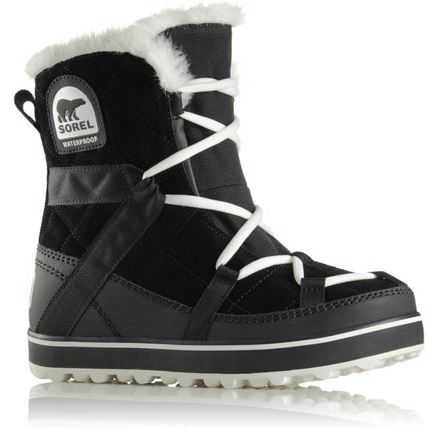 Sorel Glacy Explorer Shortie Faux Fur Damski Buty