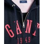 Gant Logo Full Girl's Zip Hoody