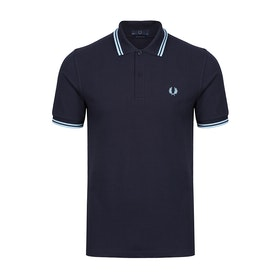 Fred Perry Re Issues 'Made in England' Twin Tipped Polo-Shirt - Navy