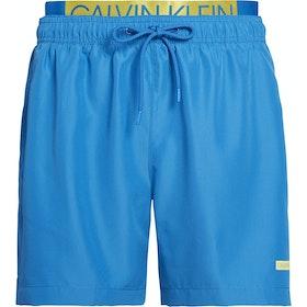 Calvin Klein Medium Double Waistband Herren Shorts - Imperial Blue