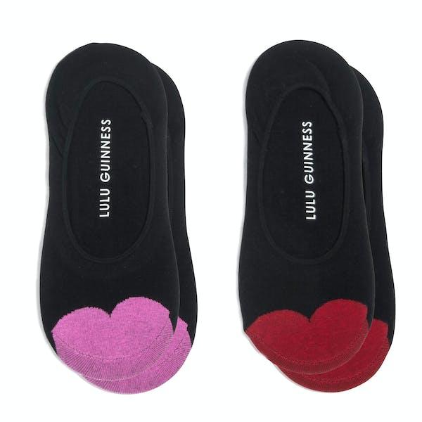 Lulu Guinness 2 Pack Cotton Ped Dame Fashion strømper