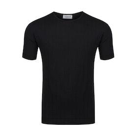 John Smedley Belden Kurzarm-T-Shirt - Black