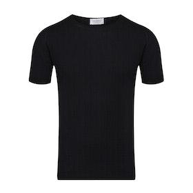 John Smedley Lorca Kurzarm-T-Shirt - Black